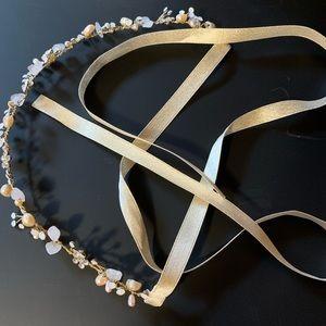 bhldn bridal headpiece